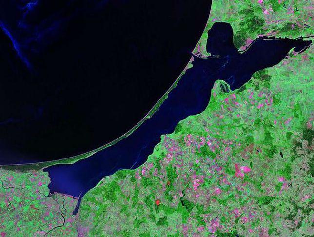 Mierzeja Wiślana - zdjęcie z satelity