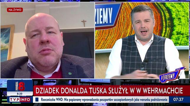 W TVP Info pojawił się pasek o dziadku Tuska