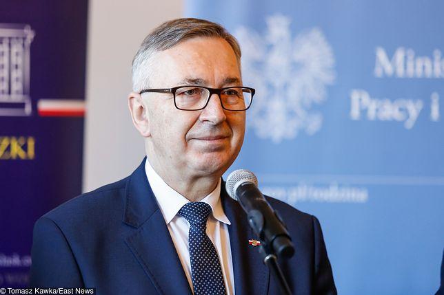 Wiceminister rodziny, pracy i polityki społecznej Stanisław Szwed.