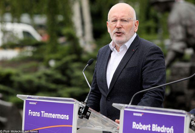 Frans Timmermans powraca jako kandydat na szefa Komisji Europejskiej