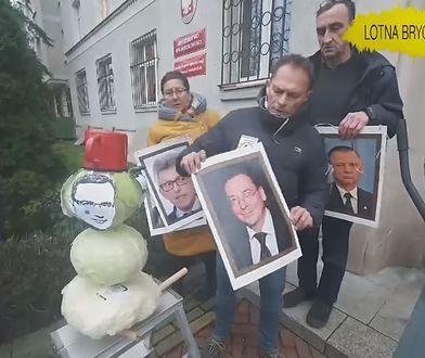 Powiesili wizerunki polityków PiS. To reakcja na umorzone śledztwo ws. zdjęć europosłów PO na szubienicach