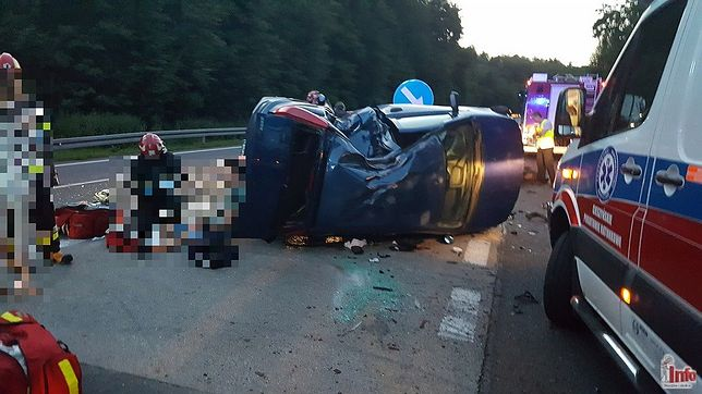 Na DK81 doszło w sobotę wieczorem do groźnego wypadku