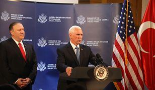 Bliski Wschód. Turcja zawiesza wojskową ofensywę w Syrii (od lewej: Sekretarz Stanu Mike Pompeo oraz wiceprezydent Mike Pence)
