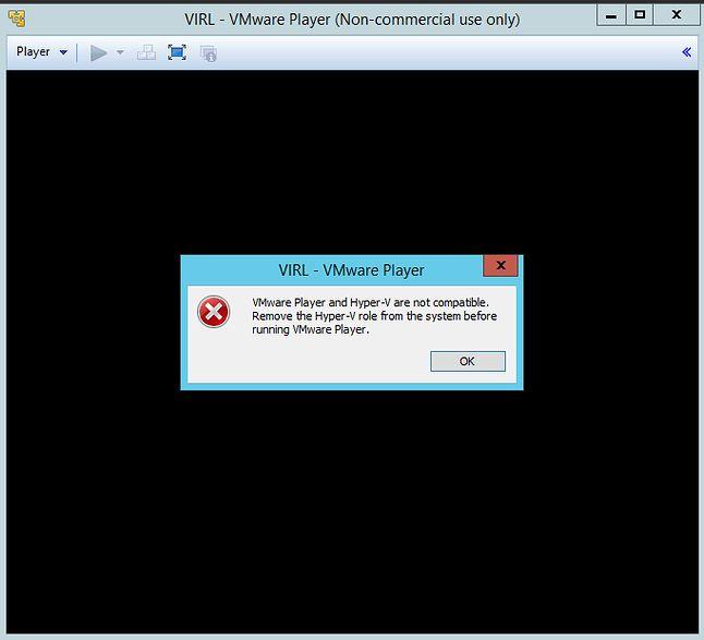Błąd związany z jednoczesnym działaniem VM i Hyper-V