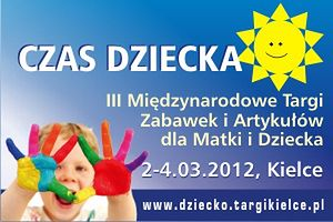 Międzynarodowe targi Czas dziecka - Ulotka