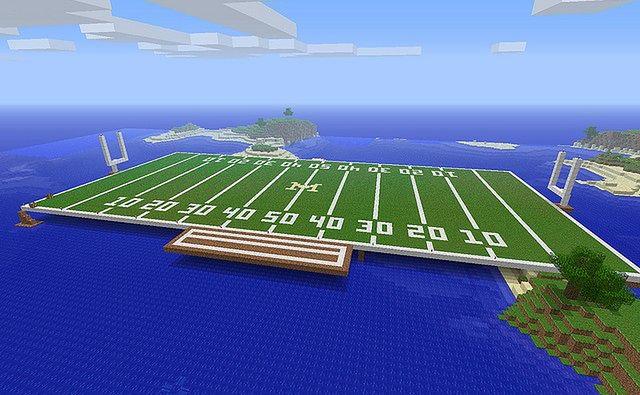 Minecraft - plansza boiska do futbolu