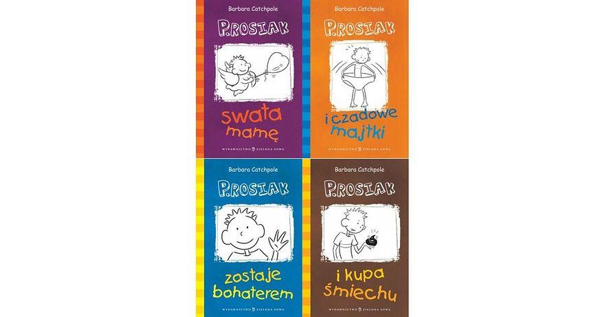 Okładki książeczek o Prosiaczku