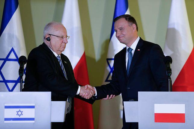 Prezydent Izraela Reuwen Rywlin podziękował Andrzejowi Dudzie za jego rolę w budowaniu relacji między oboma krajami