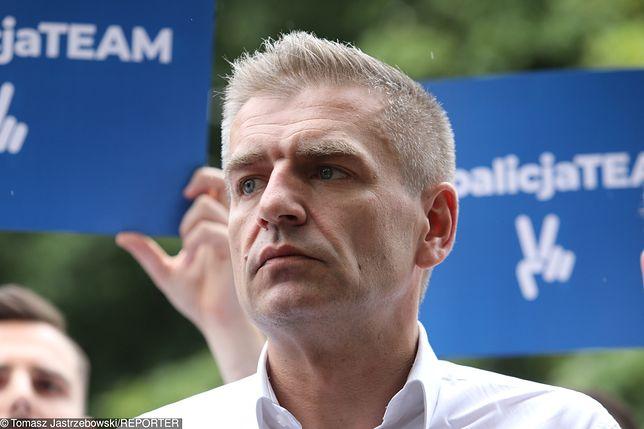 Bartosz Arłukowicz podczas kampanii wyborczej do Parlamentu Europejskiego