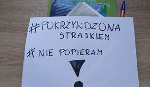 Maturzystka nie popiera strajku nauczycieli.