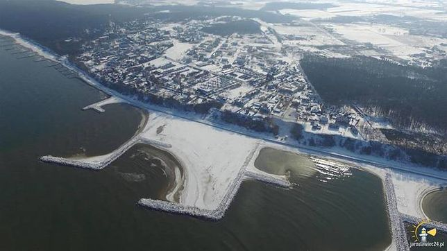 Poza Jarosławcem, jeszcze tylko w jednym miejscu w Europie jest sztucznie powstała plaża, która potrafi przetrwać sztormy