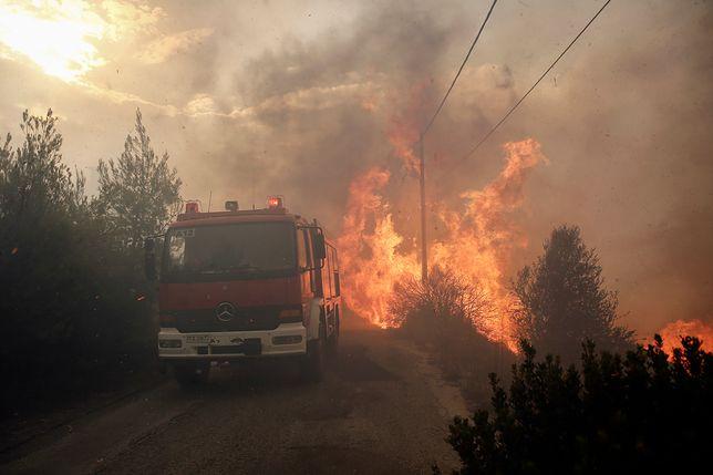 Grecja w ogniu. Nie żyje matka i syn z Polski