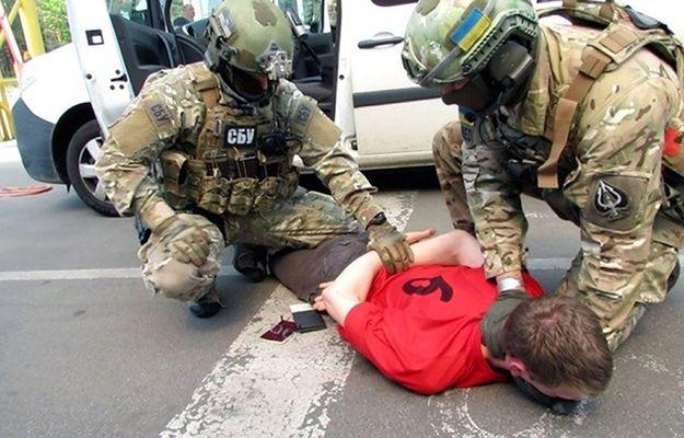 Moment zatrzymania 25-letniego Francuza. Materiał udostępniony przez SBU