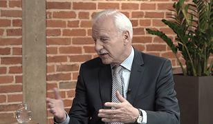 """Andrzej Olechowski w """"Racji Stanu"""" porównał Donalda Tuska do boksera. Czemu?"""