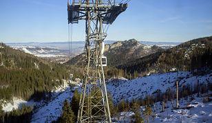 Zamknięta kolejka na Kasprowy Wierch. Powodem silny wiatr w Tatrach