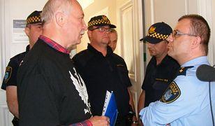 Strażnicy miejscy nie chcieli wpuścić do sekretariatu przeciwników prezydenta Poznania