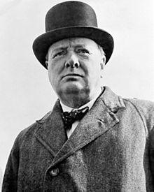 Winston Churchill - przyszły premier Wielkiej Brytanii