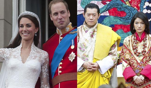 Księżna Kate i książę William, para królewska Bhutanu