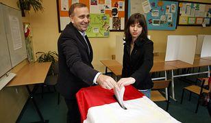 Grzegorz Schetyna z córką w 2010 r.