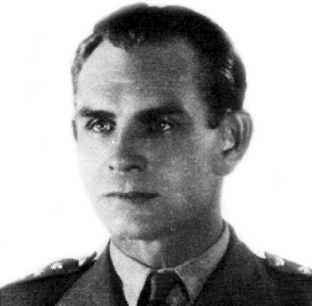 """por. Bernard Drzyzga, dowódca oddziału """"Zagra-Lin"""", którego zadaniem było prowadzenie dywersji na terenach III Rzeszy"""