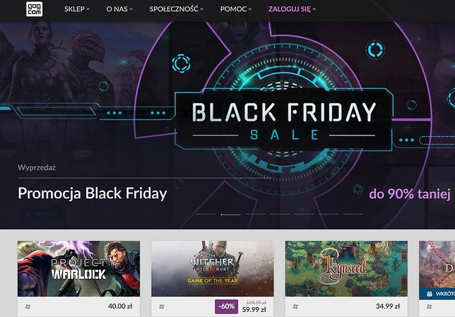 Black Friday na gog.com - do 90 proc. taniej