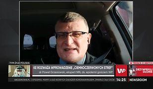 """Koronawirus. Dr Paweł Grzesiowski o """"ciemnoczerwonych strefach"""""""