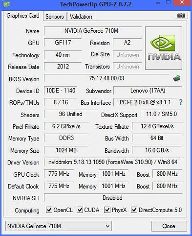 GPU-Z 710M