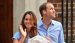 Księżna Kate, książę William i ich dziecko