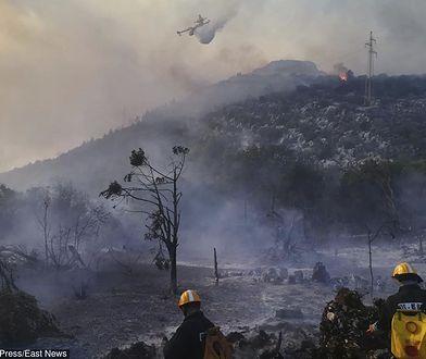 Od środy pożar szaleje na greckiej wyspie