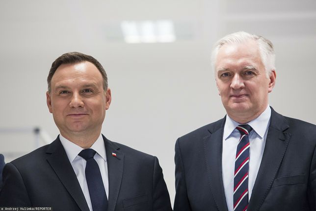 Napięcia w koalicji. Jarosław Gowin wypomina wybory kopertowe (po lewej prezydent Andrzej Duda) - zdj. arch.