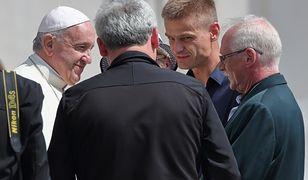 Tomasz Komenda z papieżem Franciszkiem