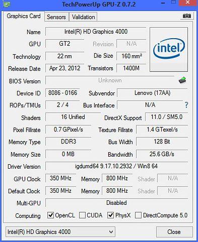 GPU-Z HD4000