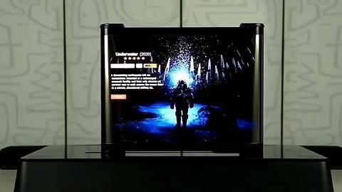 TCL i rolowany OLED TV. Zwija się niczym kurtyny w teatrze