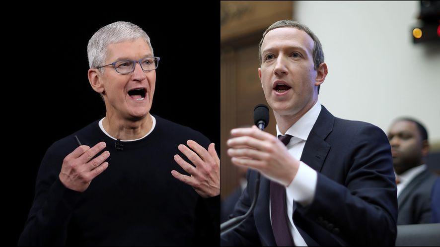 Tim Cook / Mark Zuckerberg, fot. Justin Sullivan, Chip Somodevilla / Getty Images