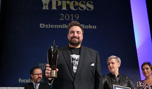 Tomasz Sekielski podczas gali Grand Press 2019