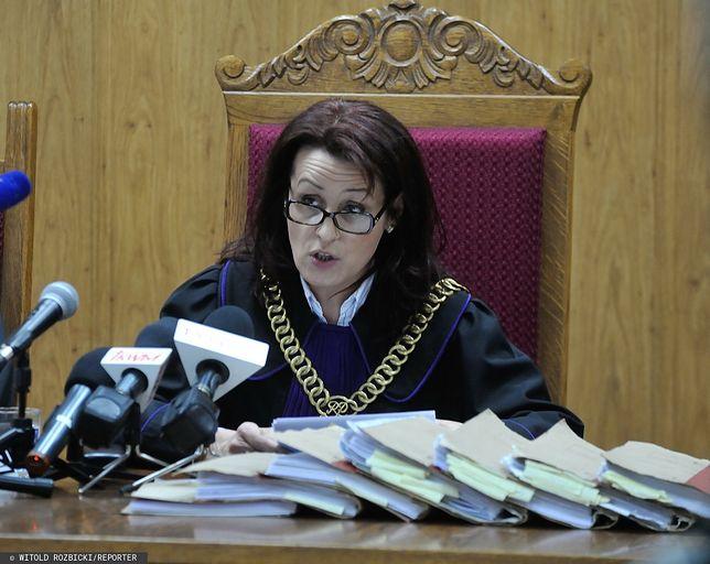 Sędzia Dorota Radlińska podczas odczytywania wyroku ws. Sławomira Nowaka w 2014 roku (zdj. arch.)