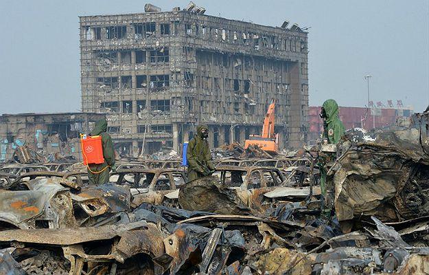 Eksplozja w Tiencin w Chinach. Nowy bilans śmiertelnych ofiar