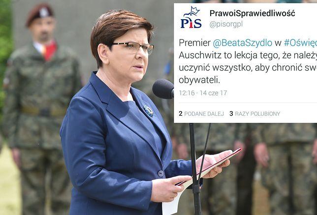 Dziwne przemówienie Beaty Szydło w Auschwitz. Premier wywołała burzę w sieci