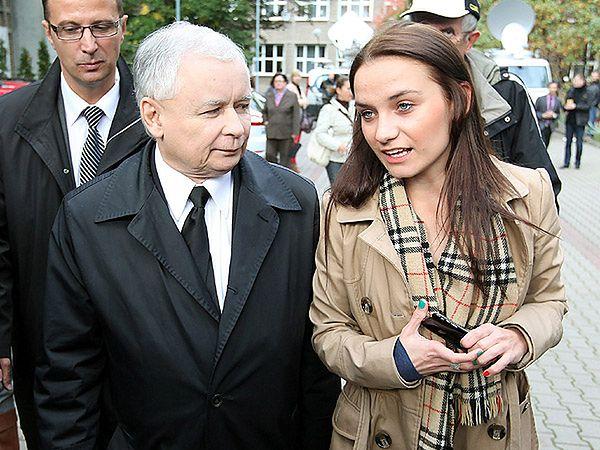 Jarosław Kaczyński i Ilona Klejnowska