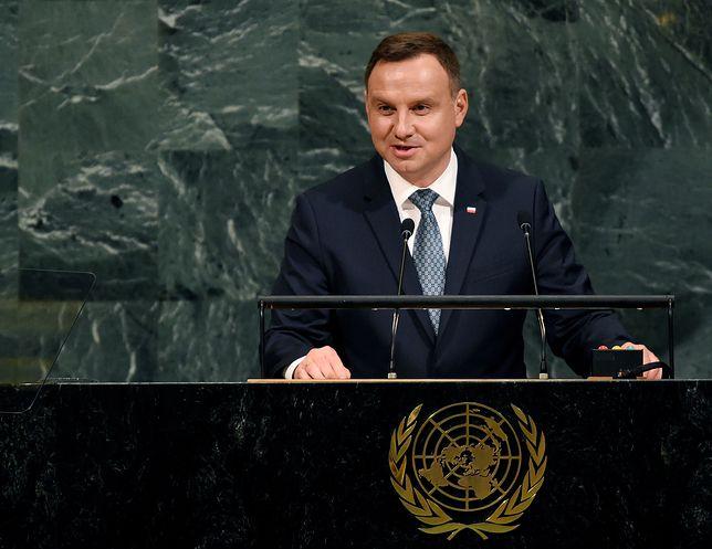 Prezydent Andrzej Duda przemawia na sesji ONZ w Nowym Jorku