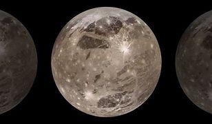 Ganimedes jest największym księżycem Jowisza, większym nawet od Merkury