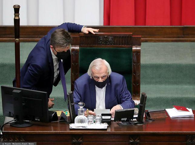 Michał Dworczyk oraz Ryszard Terlecki w Sejmie (zdj. arch.)