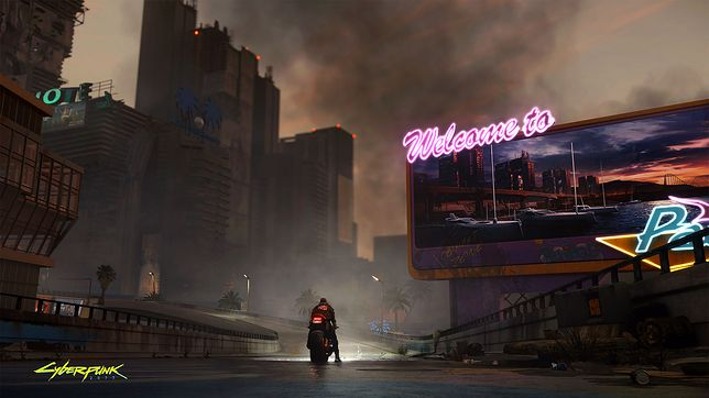 """Cyberpunk 2077. Zrób """"cyberpunkowe"""" zdjęcie miasta. Do wygrania sprzęt o sporej wartości"""