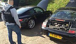 Dziupla z kradzionymi Porsche zlikwidowana w Gdańsku