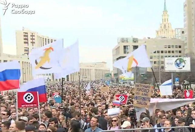 Moskwa: tysiące ludzi wyszły na ulicę. Bronią wolności słowa w internecie