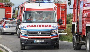 Tragedia na A1. Osiem osób rannych. Nie żyje 10-miesięczne dziecko