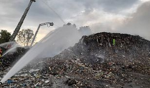 Ruda Śląska. Duży pożar na składowisku odpadów