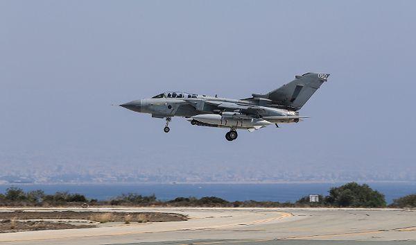 Tornado GR4 należący do brytyjskich sił powietrznych