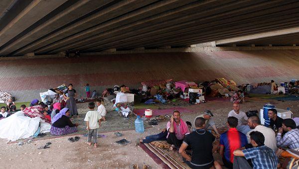 Iraccy jazydzi szukają schronienia pod mostem; Dohuk