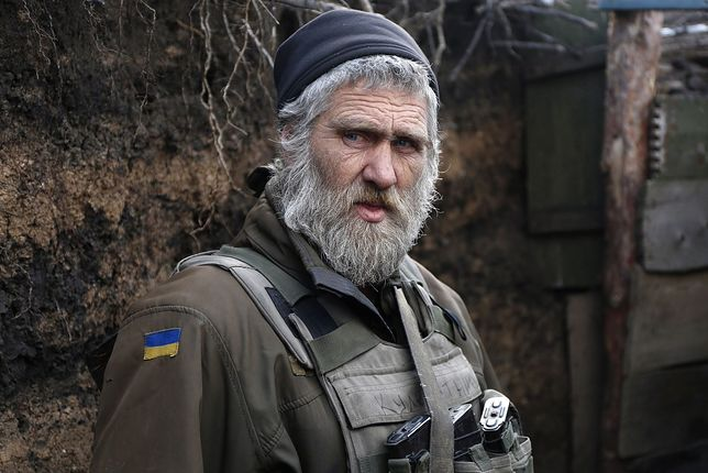 Żołnierz ukraiński na wschodzie kraju